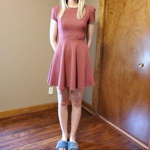 Mauve Short Sleeved Dress